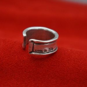 NEW UNISEX UNO de 50 Silver Band Statement Ring 7